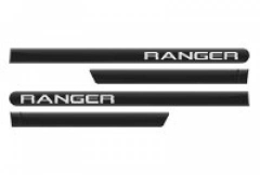 Friso Lateral Ford Ranger 2013 Cabine Dupla Preto Gales Personalizado 4 Peças