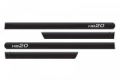 Friso Lateral Hyundai HB20 2013 Preto Onix Personalizado 4 Peças