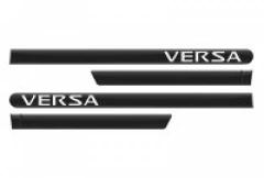 Friso Lateral Nissan Versa 2012 Preto Premium Personalizado 4 Peças