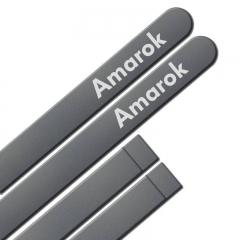 Friso Lateral Volkswagen Amarok 2010 Cinza Iron Personalizado 4 Peças