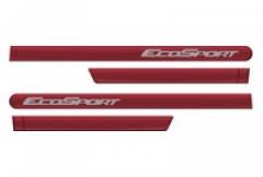 Friso Lateral Ford Ecosport 2012 Vermelho Arpoador 4 Peças