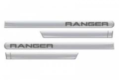 Friso Lateral Ford Ranger 2013 Cabine Dupla Prata Geada Personalizado 4 Peças