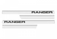 Friso Lateral Ford Ranger 2013 Cabine Dupla Branco Ártico 4 Peças