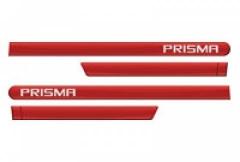 Friso Lateral GM Chevrolet Prisma 2013 Vermelho Pepper 4 Peças