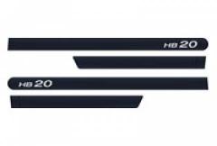 Friso Lateral Hyundai HB20 2013 Azul Ocean 4 Peças