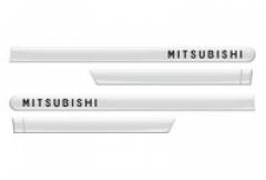 Friso Lateral Mitsubishi Lancer Branco Alpino Slido 4 Peças