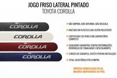Friso Lateral Toyota Corolla 2015 Pintado