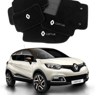 Tapete Automotivo Renault Captur em Carpet Linha Luxo | Scar Automotive