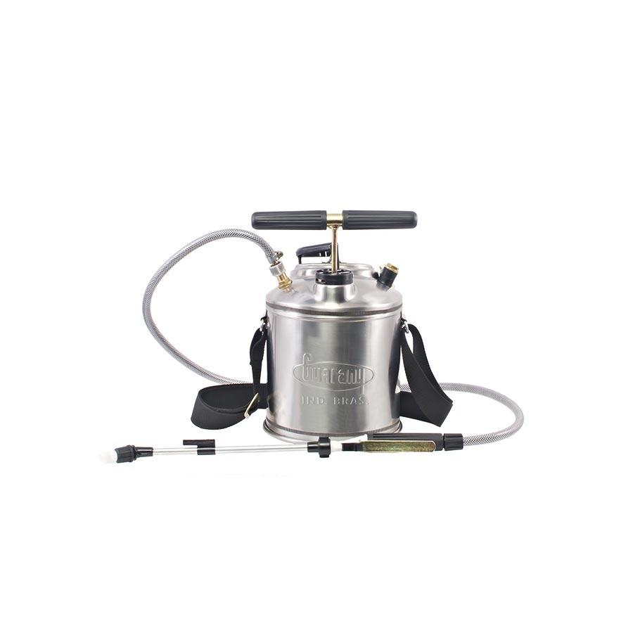 Pulverizador de compressão prévia Guarany 5 litros em inox - Hs Floresta e Jardim