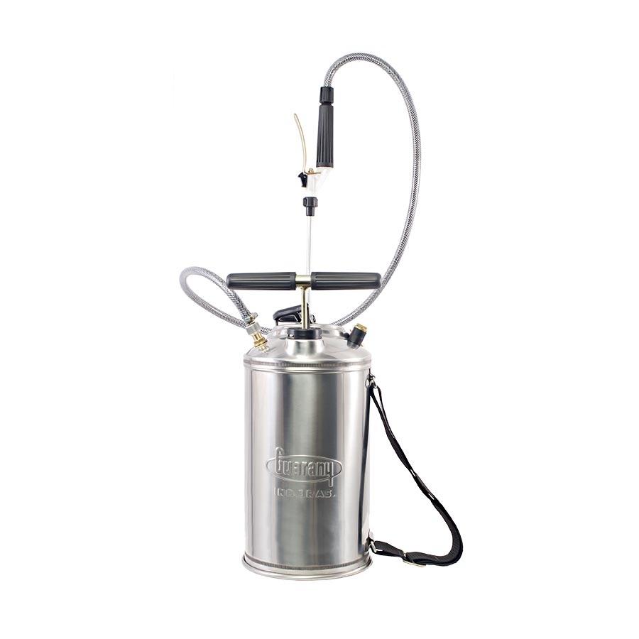 Pulverizador de compressão prévia Guarany 10 litros em inox - Hs Floresta e Jardim