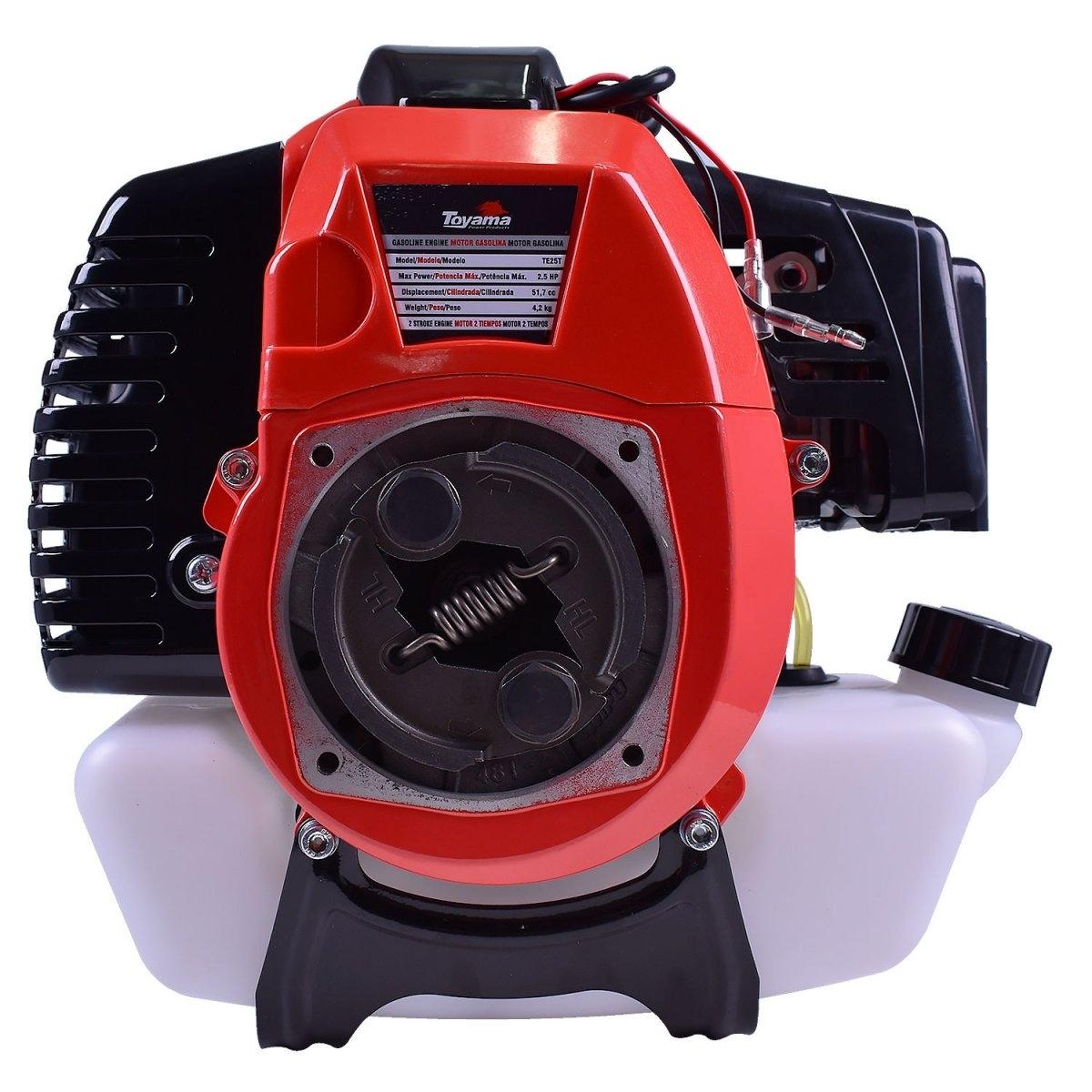Motor Para Rabeta e Roçadeira a Gasolina 2,5HP TE25T Toyama - Hs Floresta e Jardim