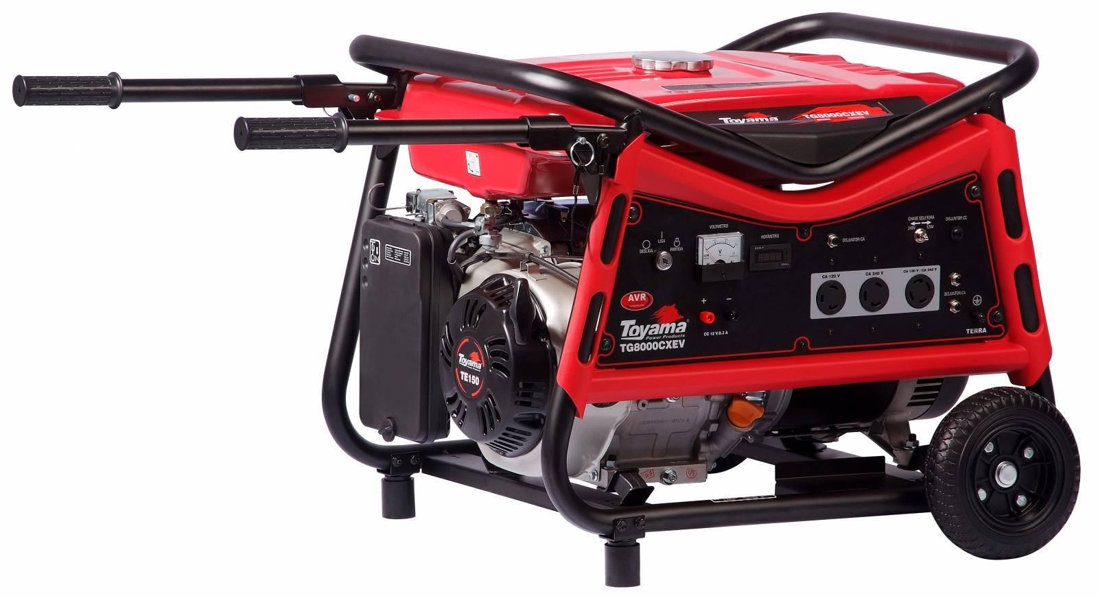 Gerador gasolina TOYAMA TG8000CXEV 7000 WATTS