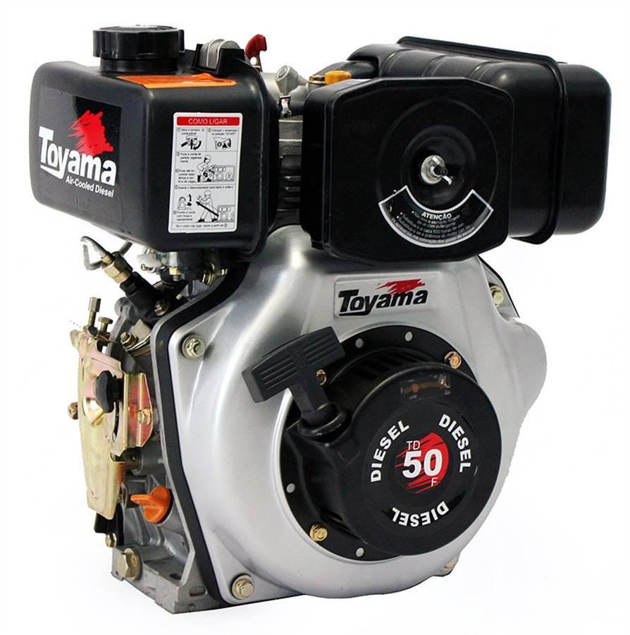 Motor Toyama 4.7HP diesel eixo 3/4
