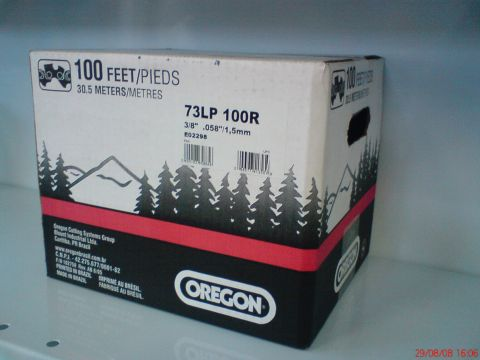 OREGON 73LPX 820dentes 3/8' .058' 1,5mm quadrada guia dupla