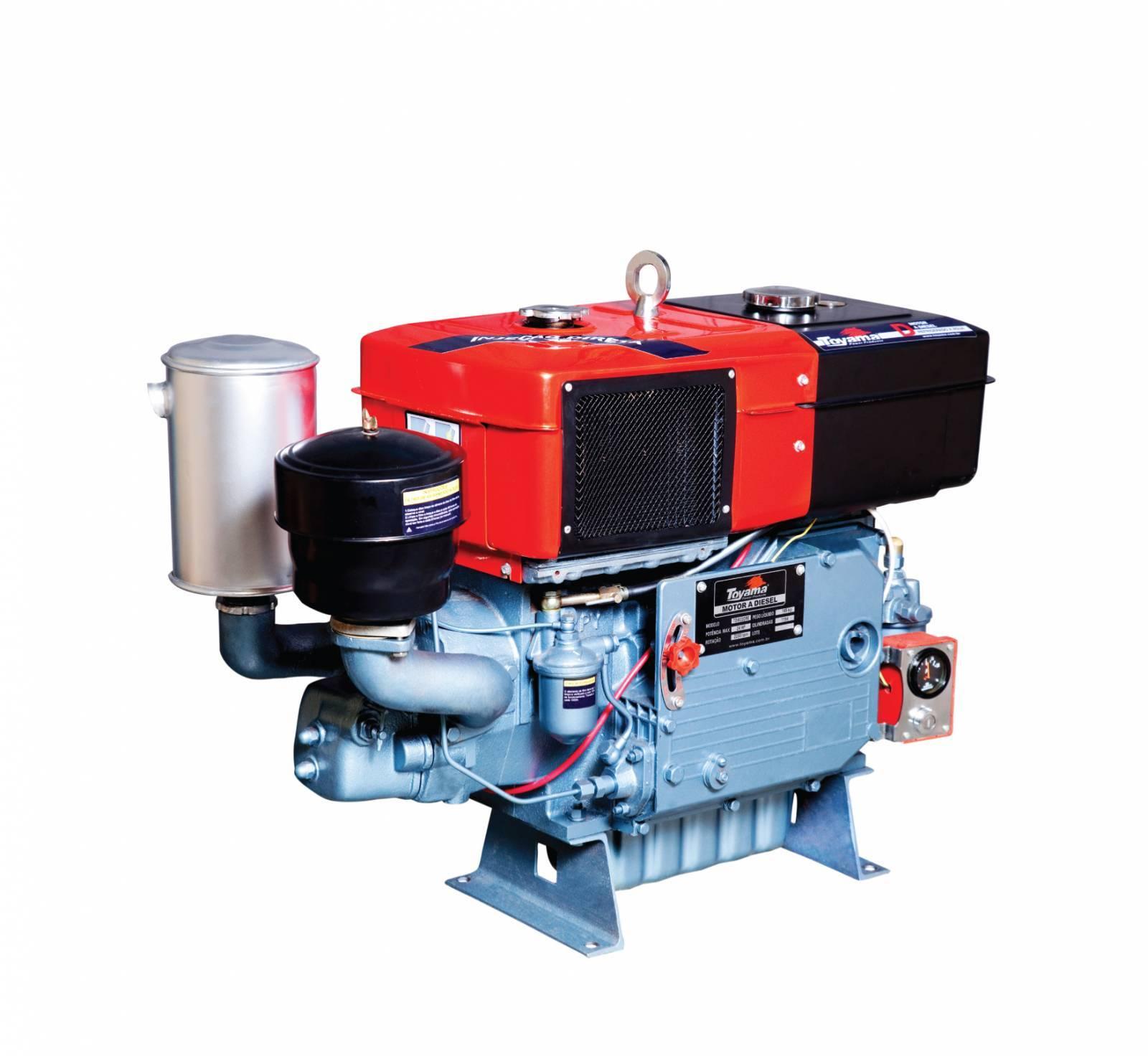 Motor diesel TDW18D2 TOYAMA 16,5 hp refrigerado água com sif - Hs Floresta e Jardim