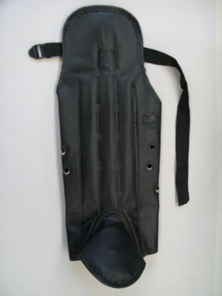 Perneira bidim velcro 3 lâminas aço c/ protetor joelho/metat