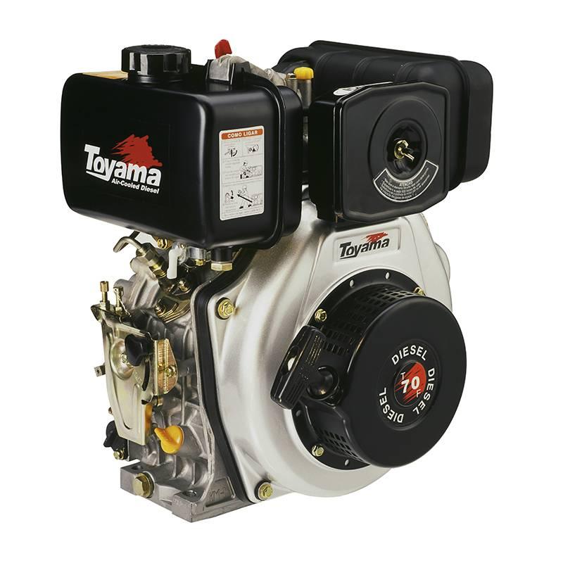 Motor Toyama 6,7HP diesel eixo1