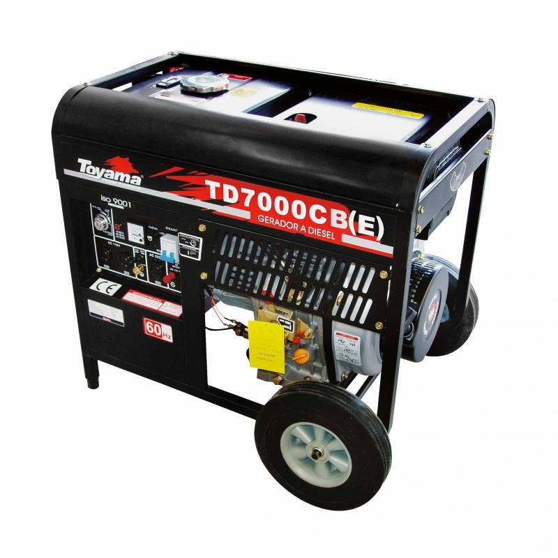 Gerador diesel TOYAMA TD7000CBE 6 Kva Equipado c/ capacitor