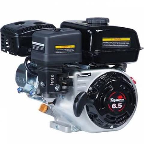 Motor TOYAMA 6,5HP 4T c/ sens. óleo bobina luz  part. elétr. - Hs Floresta e Jardim