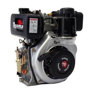 Motor Toyama 6,7HP diesel c/ partida elétrica eixo 1