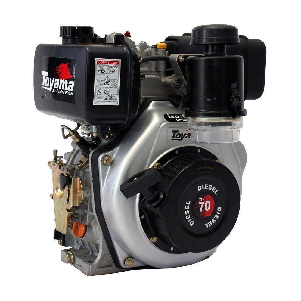 Motor Toyama 6,7HP diesel P.elétrica eixo1