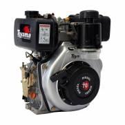 """Motor Toyama 6,7HP diesel c/ partida elétrica eixo 1"""" TD70FE"""