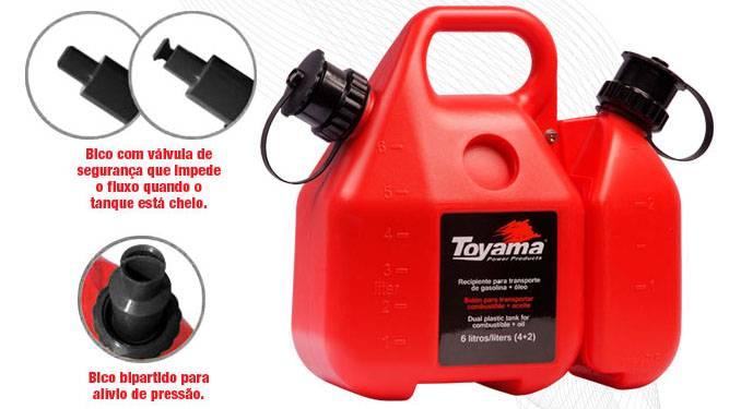 Galão Bidão P/ Transporte de Gasolina e Óleo comb. Toyama