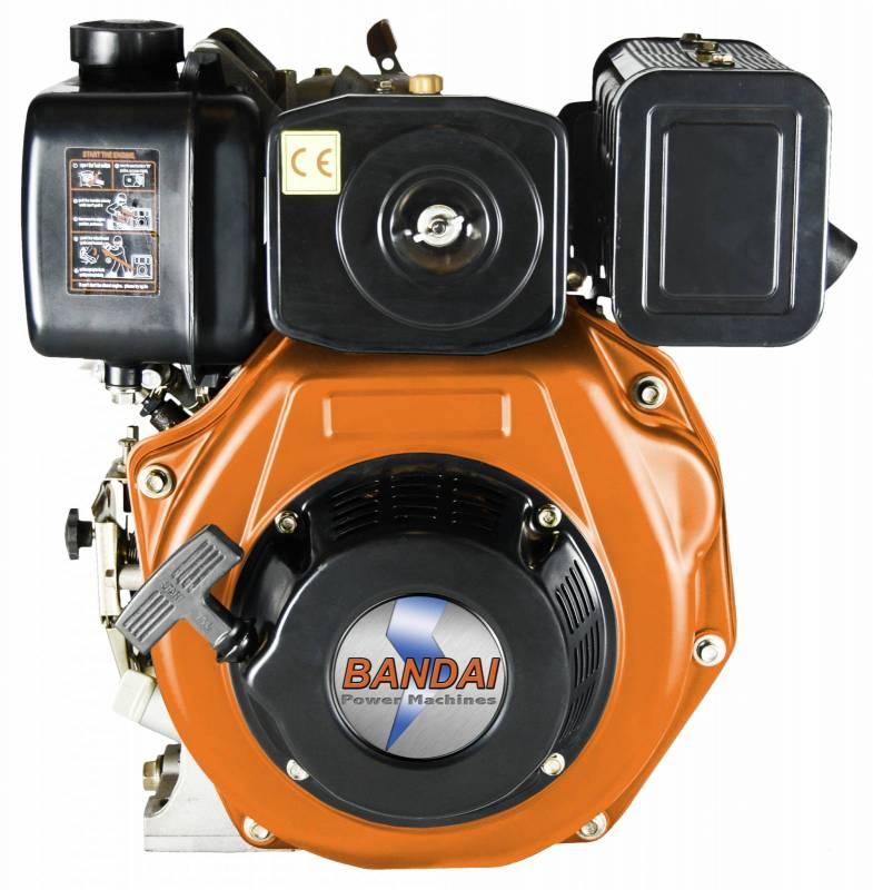 Motor Estacionário BANDAI Diesel 10HP Partida Manual Eixo 1'