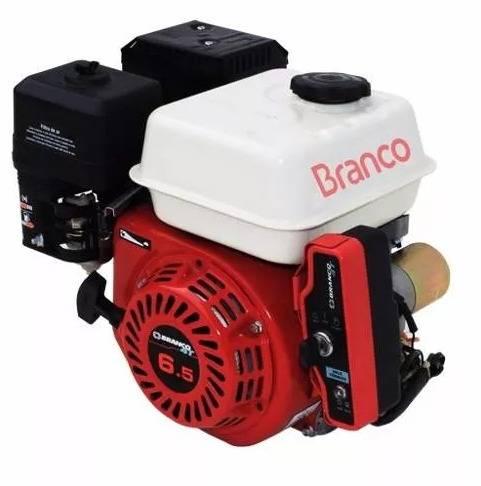 Motor BRANCO 6,5HP 4T eixo 3/4' partida elétrica e kit chave