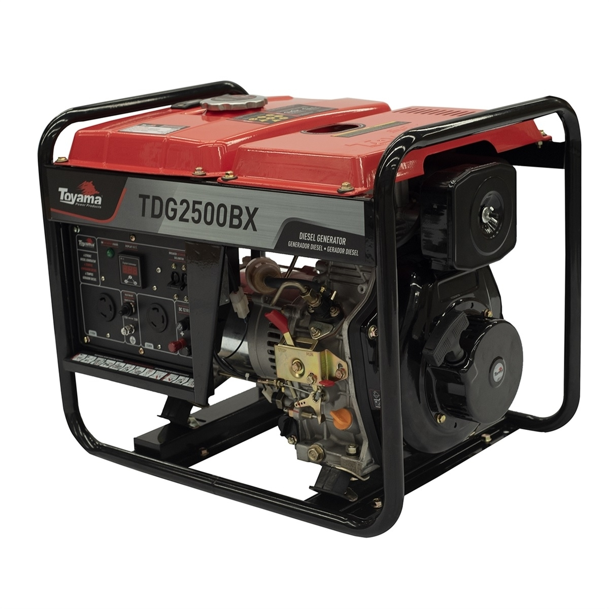 Gerador diesel TOYAMA TDG2500BX 2,2 Kva BIVOLT - Hs Floresta e Jardim