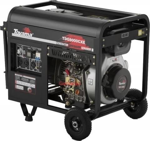 Gerador a Diesel Toyama TDG8000CXEB MONO 6,5kW máx 127/220V - Hs Floresta e Jardim