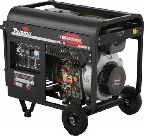 Gerador a Diesel Toyama TDG8000CXE 6,5Kw 127/220v - Hs Floresta e Jardim