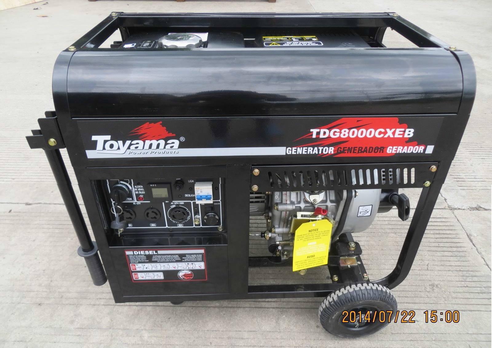 Gerador a Diesel Toyama TDG8000CXE3 Trif.380v  8,1kVA  - Hs Floresta e Jardim