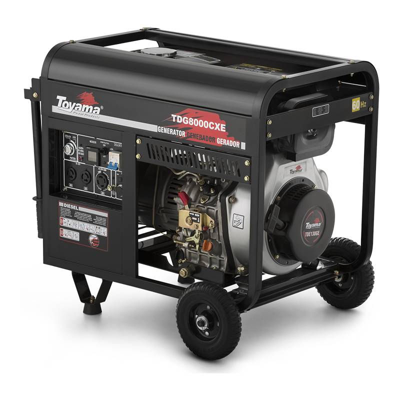 Gerador a Diesel Toyama TDG8000CXE3D Trifás.220v  8,0 kVA ma