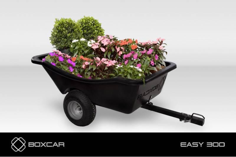 Carreta trator de cortar grama EASY 300 BOXCAR, em OFERTA!!! - Hs Floresta e Jardim