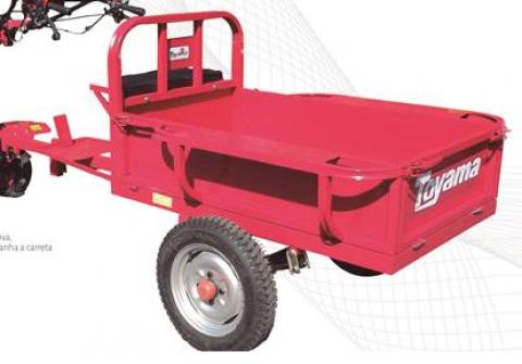 Carreta motocultivador Toyama TAT350 350kg Serve TT90/TDT110 - Hs Floresta e Jardim