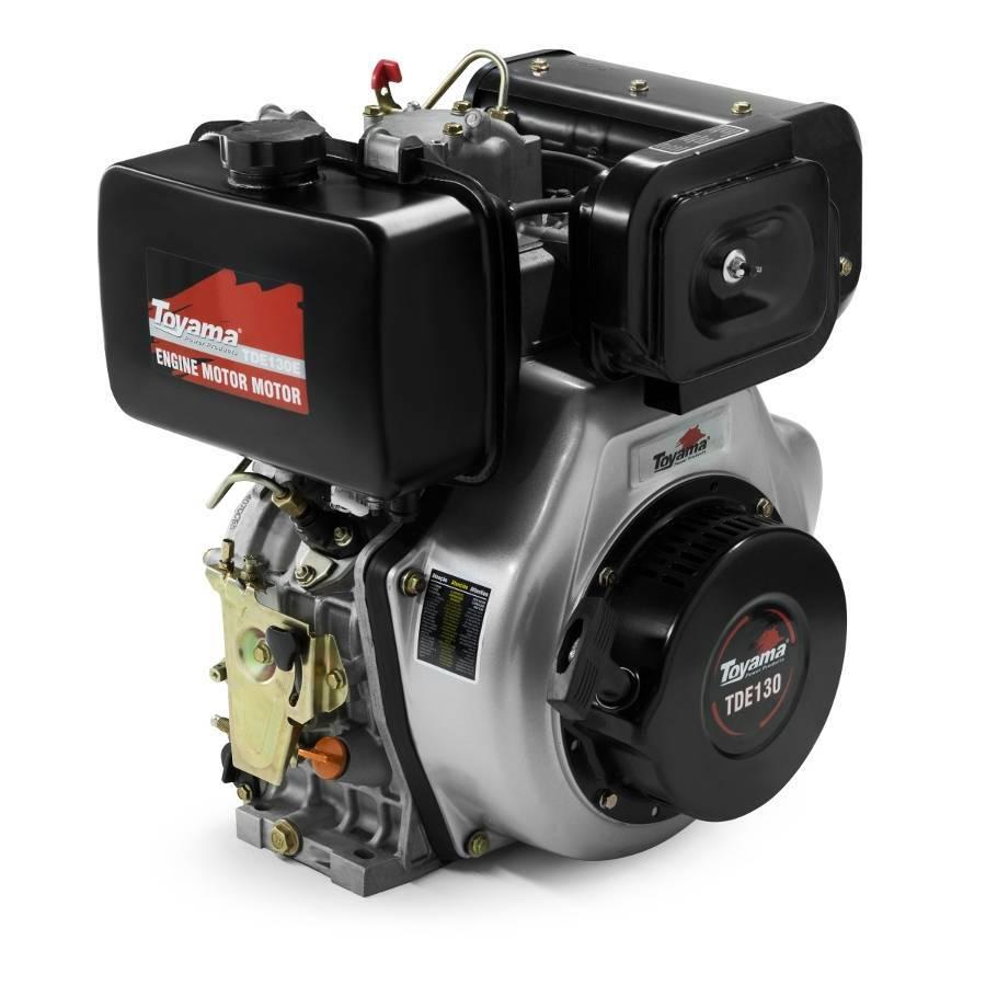 Motor TOYAMA TDE130E 13 HP diesel 4Tempos Partida Elétrica - Hs Floresta e Jardim