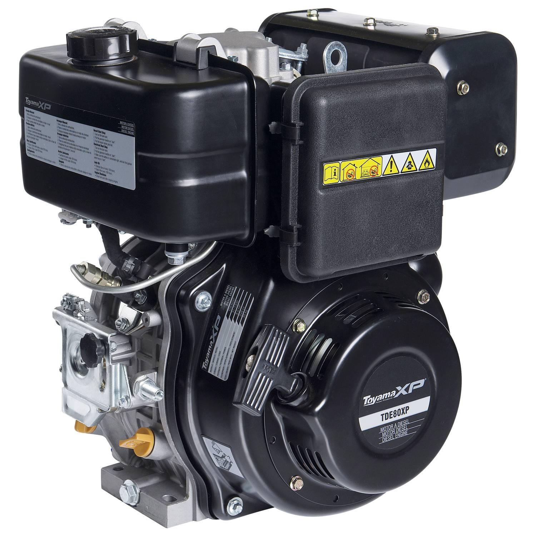 Motor TOYAMA 8 HP diesel c/ partida elétrica eixo 1' TDE80EX