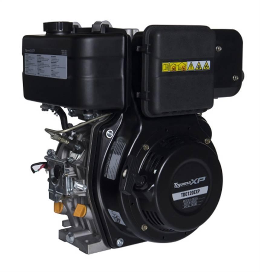 Motor TOYAMA 11 HP diesel c/ partida elétrica eixo 1' TDE120