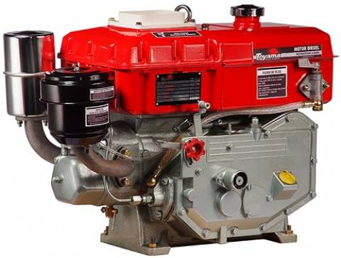 Motor Diesel TDW8RE TOYAMA 7,7hp refri. água P. Elétrica - Hs Floresta e Jardim