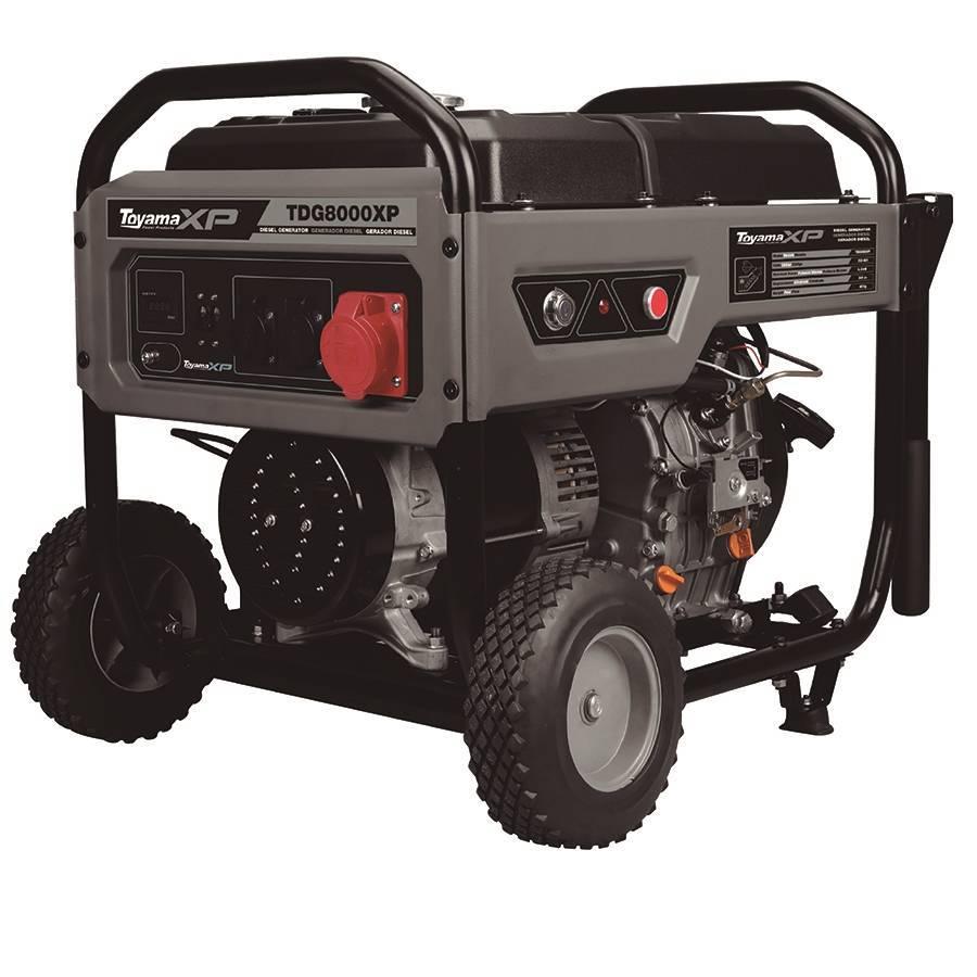 Gerador a Diesel TDG8000EXP Monofásico 6Kva 127/220v Toyama - Hs Floresta e Jardim