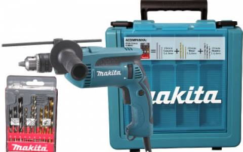 Furadeira de impacto Makita HP1640KX1  110v - Hs Floresta e Jardim