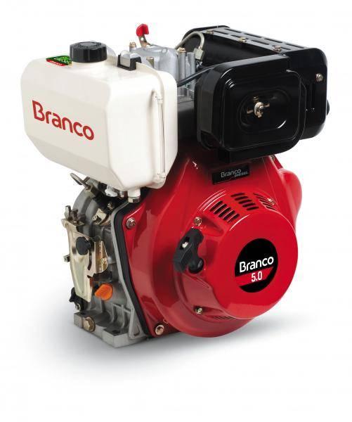 Motor diesel BD-5.0 c/5.0 cv P. Elétrica 3600 rpm Branco - Hs Floresta e Jardim