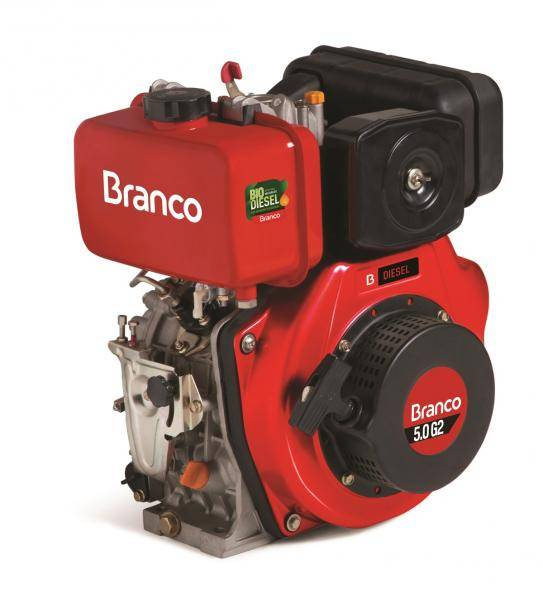 Motor diesel BD-5.0 G2 c/ 5.0 cv P. Elétrica 3600 rpm Branco - Hs Floresta e Jardim