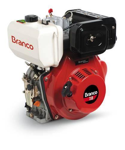 Motor diesel BD-7.0 Partida Manual 6,0 cv e 3600 rpm Branco - Hs Floresta e Jardim
