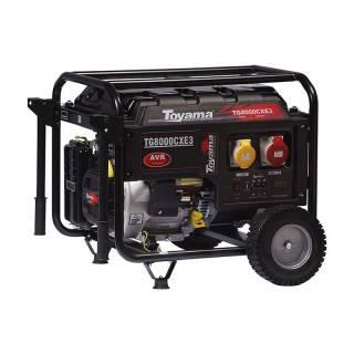 Gerador a Gasolina TG8000CX3ED 220V 7 kva P. elétrica toyama