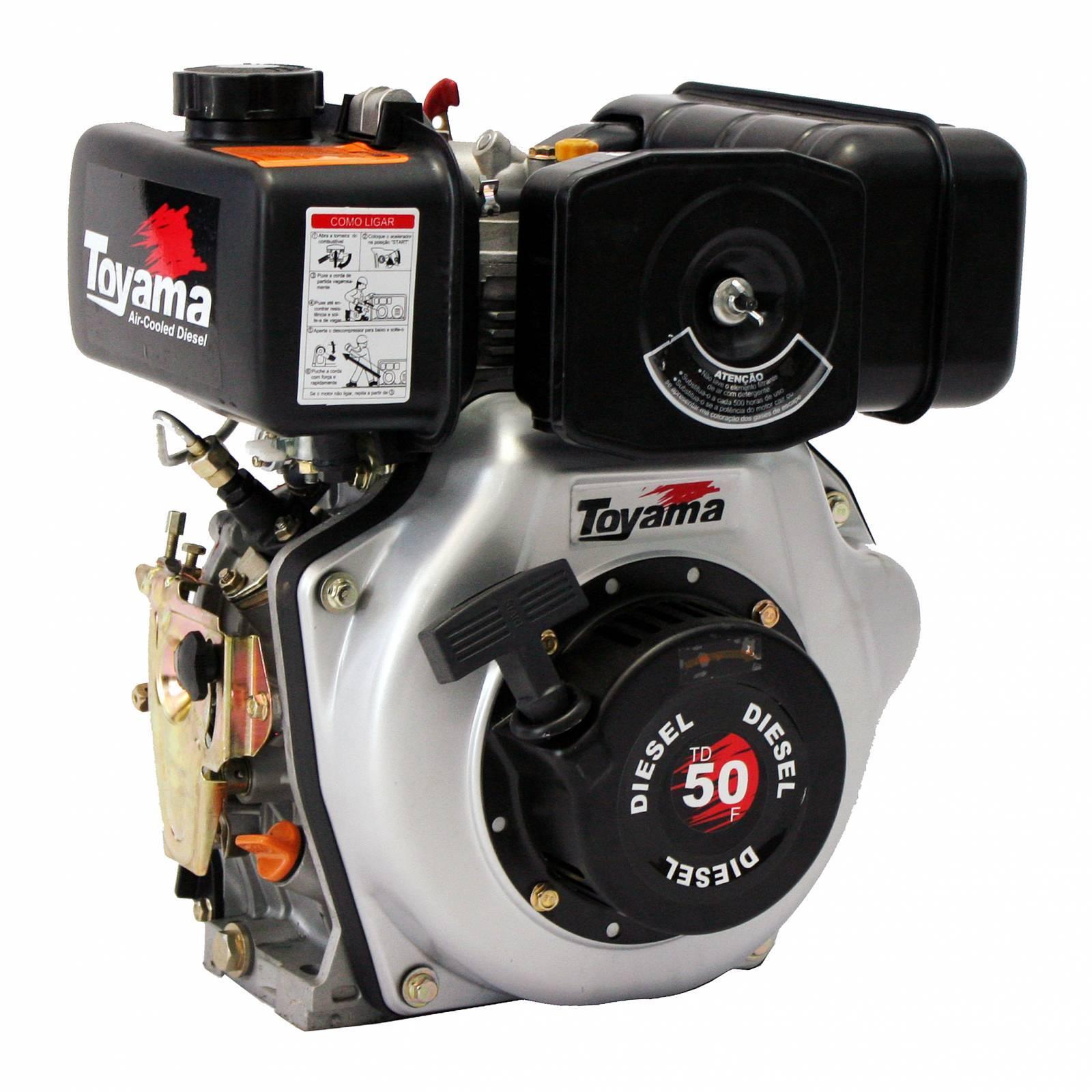 Motor Toyama TDE110 Diesel 418Cc 3600 RPM 10,5 HP, Em OFERTA - Hs Floresta e Jardim
