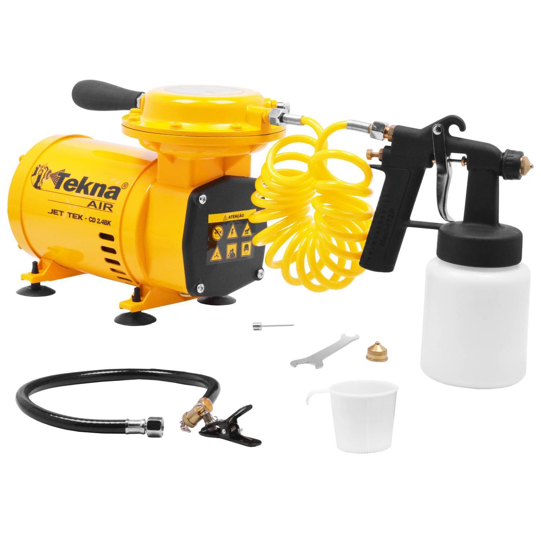 Compressor de Ar Tekna CD2453B Bivolt 2Hp Cap.68L/Min c/ kit - Hs Floresta e Jardim