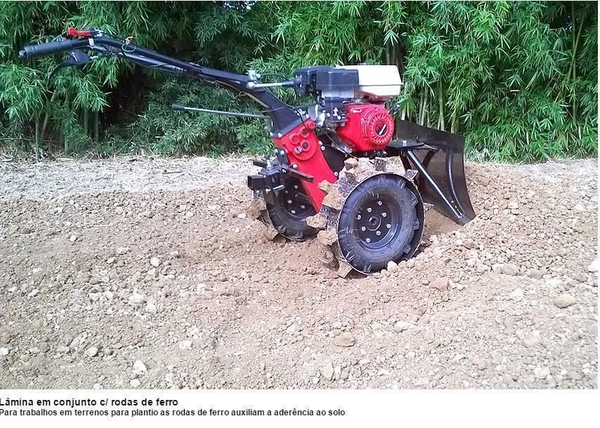 Aparador Grama Traseiro AGT-500 p/ motocultivador Branco BTT - Hs Floresta e Jardim
