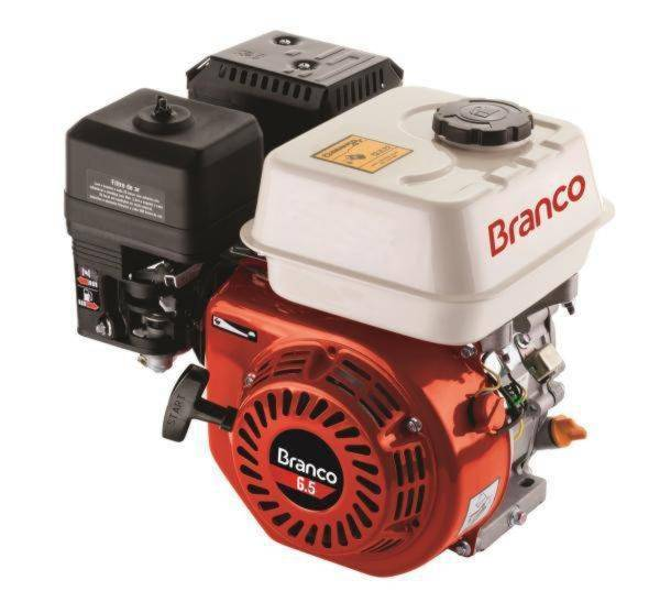 Motor BRANCO 6,5HP 4T eixo 3/4' P. Manual eixo Horizontal